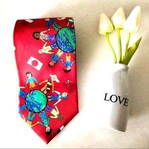 3/$30 Save the Children of the Continent Silk Tie